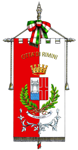 Gonfalon with coat of arms of Rimini