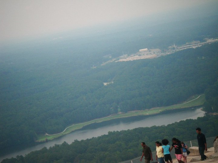 This is he view from the top of the mountain.