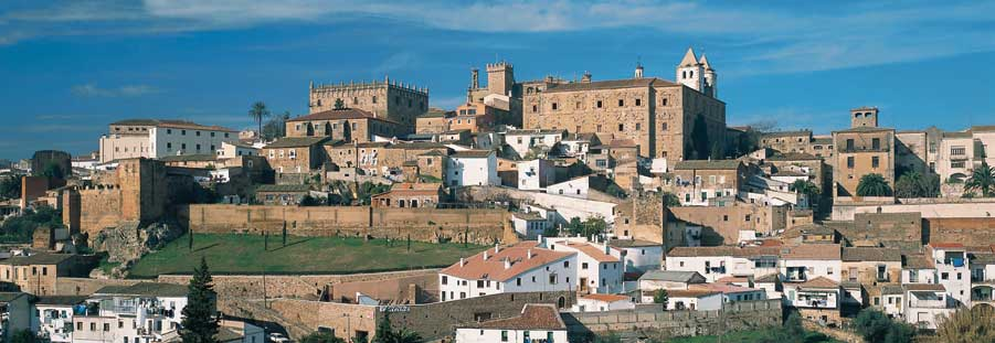 The view of the Old Town of Caceres