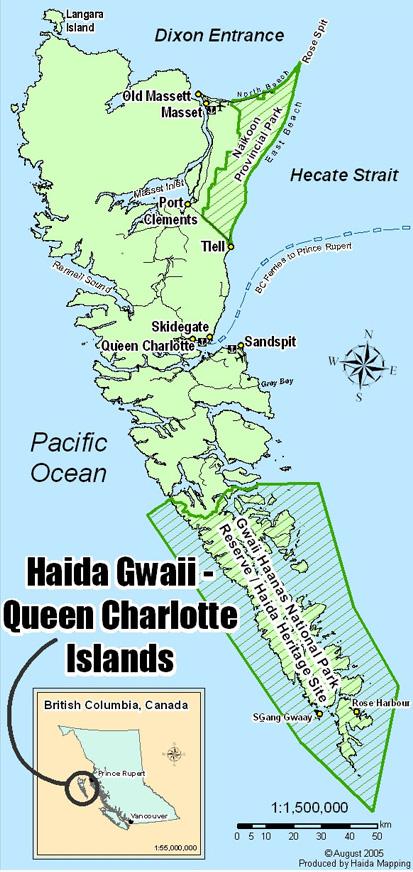 Location of Gwaii Haans