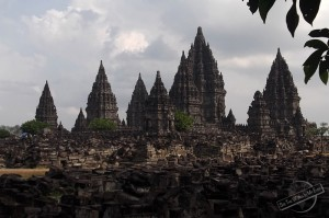 Prambanan Temple on Java in Indonesia