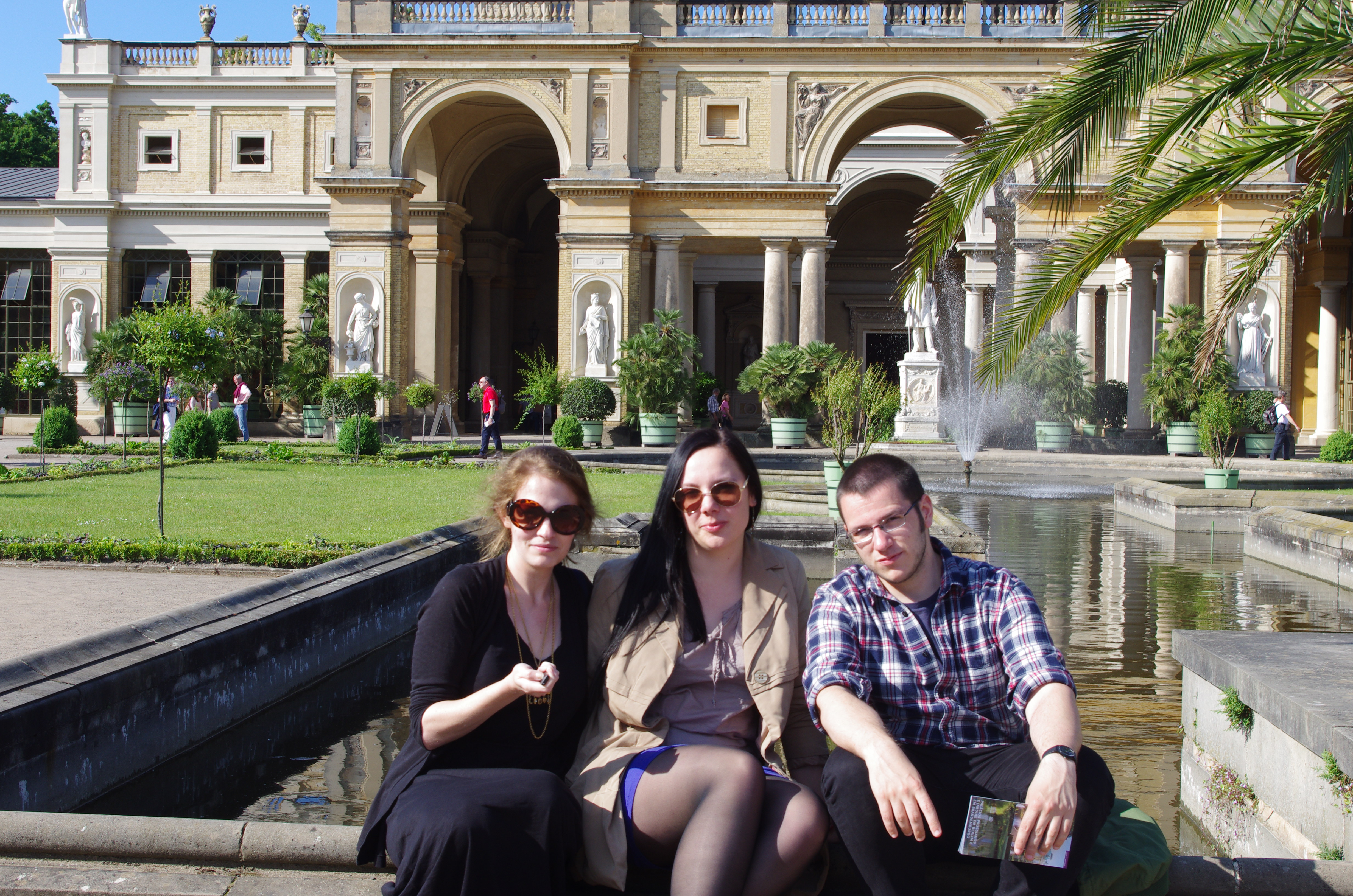 Sansoucci is a little overwhelming, and we only had time to wander around a bit and stop in the Orangerie...but that's an excuse to return, non?