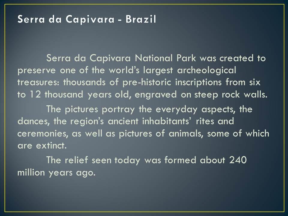 Serra da Capivara National Park Slide14