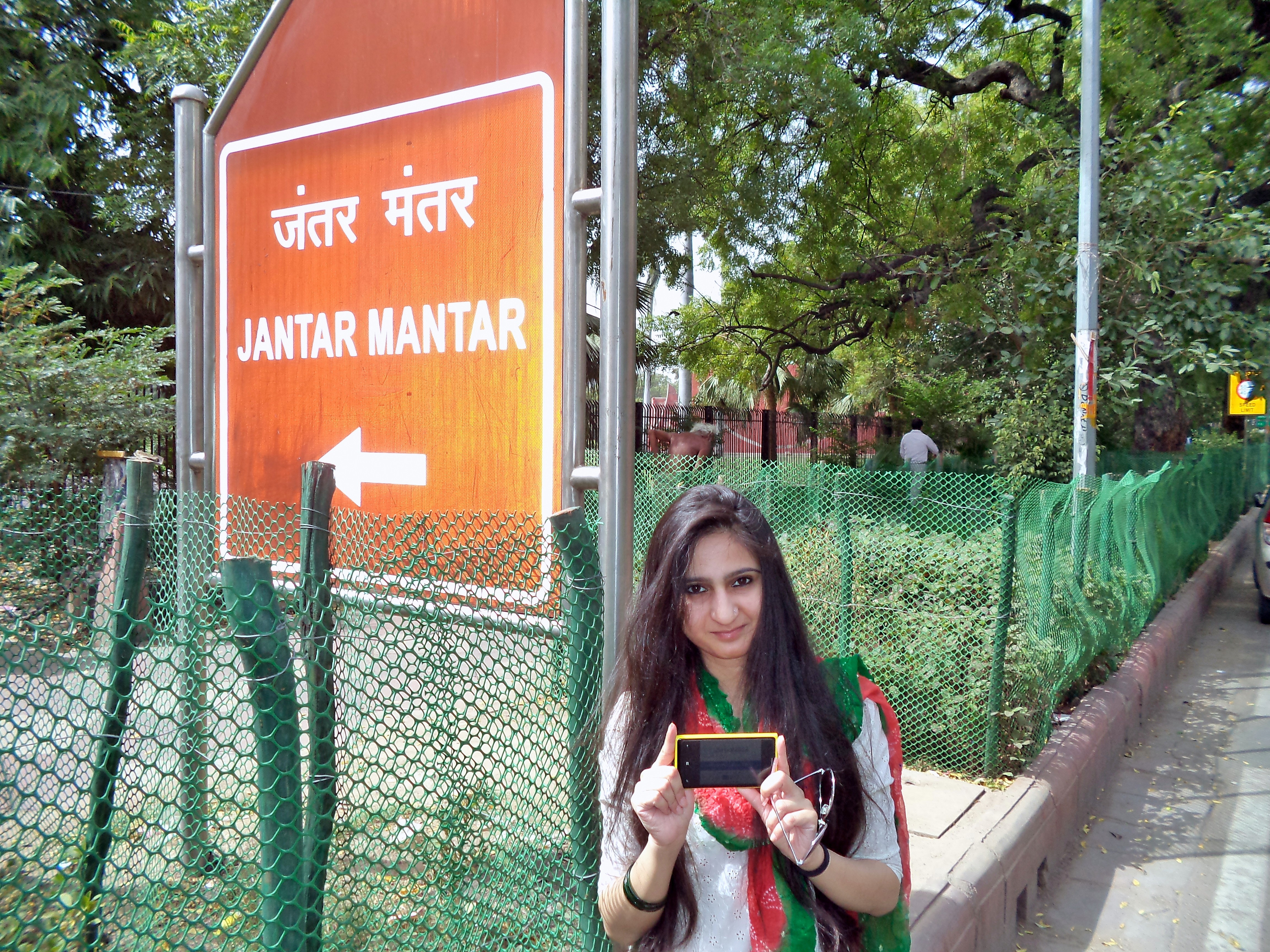 I went to Jantar Mantar, Delhi on 11th June 2014 at 9:00 AM. It is located at Sansad Marg, Connaught Place, i.e the heart of Delhi.  It is one of the five observatories built by the Maharaja of Jaipur - Sawai Jai Singh II. The primary purpose of the observatory was to compile astronomical tables, and to predict the times and movements of the sun, moon and planets. There are 13 astronomical instruments, out of which 1 is samrat yantra, the sun dial. Samrat Yantra calculates time of the accurately. Jantar Mantar can be reached easily by delhi metro, nearest metro station is patel chowk.
