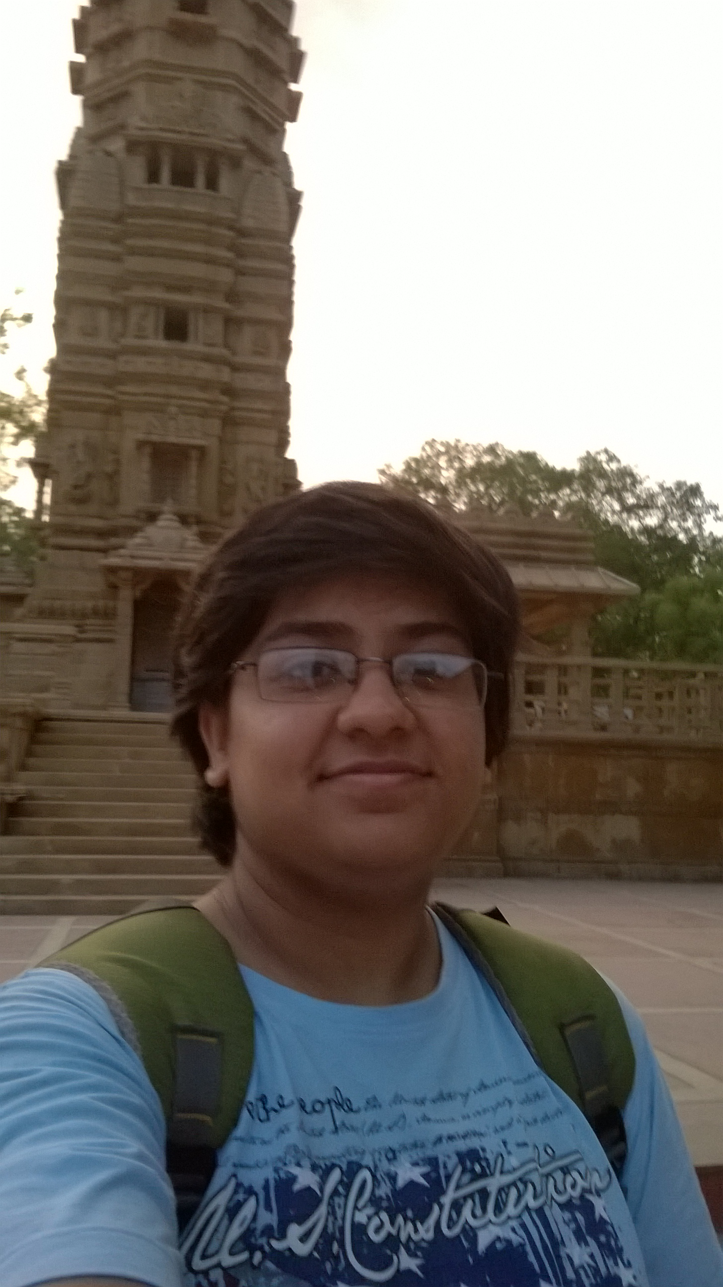 """To complete the task as the Campus Ambassador I decided to visit the Hathisingh na Mandir. Not due to any fancy reason but because it was proximity to my house and was ideal place to visit for getting break from studies. If I was not assinged this task or was not bound with exams, I would have sound like """"Mandir bi koi gumne ki jaga h? (Is temple a place to visit)"""", even without reading the fab history of the place. But after my visit I am sure that i will visit the place again and again. This Prominent Jain temple reflects the beautiful architecture by the artisans of 19th century. It has been named after its founder Seth Hathee Singh, a prosperous Jain merchant. With the help of Google I found it was build in dedication of 15th Jain Trithanakara named Dharmnath. The temple has a cemented courtyard that is enclosed by a row of cloisters, which contains 52 holy places. Each of the shrines consists of an image of a Tirthankara. I got to know that, the temple contains 238 stone images, 83 metal images and 21 yantras. Hats off to artisans and their work. The rain shower after the visit made my evening. I would kindheartedly suggest all ahmedavadies to pay a visit once."""