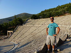 I visited this WHS in June 2014. Having visited quite a number of classical WHS in Greece I took advantage of the long summer opening times and visited Epidaurus after 5pm. This meant that not only all the tour groups and coaches had left, but at times I was practically the only visitor around. I headed first towards the stadium and then walked among the ruins and numbered remains scattered around the few standing columns remaining. Then I visited the archaeological museum which has several stone and marble statues on display and then I ended my visit with the main highlight, the huge Epidaurus Theatre that has a seating capacity of 14000! If you are lucky enough to visit when there are Greek theatrical arts or operas played here do visit! The acoustics are close to perfect.