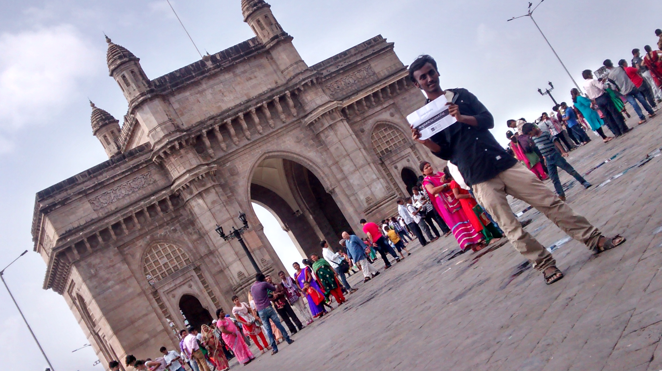 #gounescoselfie#gatewayofIndia I had a visit to Mumbai and took a selfie for GoUnesco at GateWay of India. Gateway of india is the must visit place in Mumbai. It is surrounded by the Arabian sea. Also there is Hotel taj . We can have a good number of pics here and can enjoy boating in the Sea which is a memorable experience !! Coming to the history of Gateway of India,it is one of India's most unique landmarks situated in the city of Mumbai. The colossal structure was constructed in 1924,bordered by the Arabian Sea.The total construction cost of this monument was approximately 21 lakhs.The main objective behind the construction of the Gateway of India was to commemorate the visit of King George V and Queen Mary to Bombay (Mumbai).The architectural design of Gateway of India was fashioned by architect, George Wittet.The structural design of the Gateway of India is constituted of a large arch, with a height of 26m. The monument is built in yellow basalt and indissoluble concrete.The monument is structured in such a way that one can witness the large expanse of the 'blue blanket' right ahead, welcoming and sending off ships and visitors. Light ShowGateway of India:https://www.youtube.com/watch?v=qyad7cLMYus — atGateway Of India, Mumbai.
