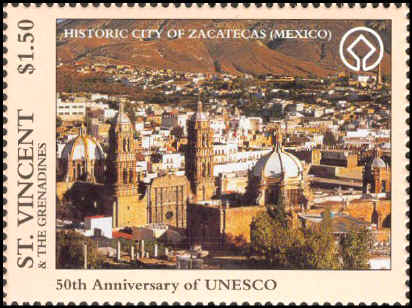 mexico-StVincentGrenadines1996-UnescoAnniv-Zacatecas