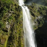 Sutherland Falls in New Zealand Beautiful view