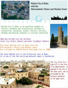 Walled City of Baku with the Shirvanshah's Palace and Maiden Tower