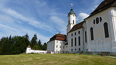 I visited this WHS in June 2014. I had missed it a couple of years ago when I visited the Bavarian Alps. It is very close to a small town called Steingaden and the peaceful mountain setting and church exterior already make it a worthwhile visit. However, the OUV is definitely the over-the-top Rococo interior. Entrance is free. When I visited someone was playing the organ and this helped to create the right ambience for my visit.