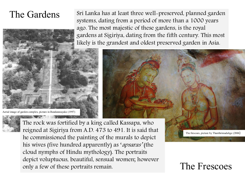 sigiriya gardens and frescos