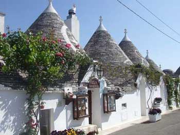The trullis of alberobello