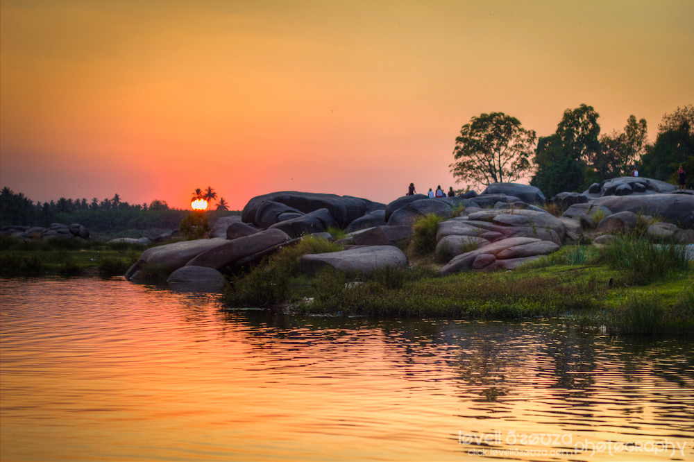 Sunset at Hampi