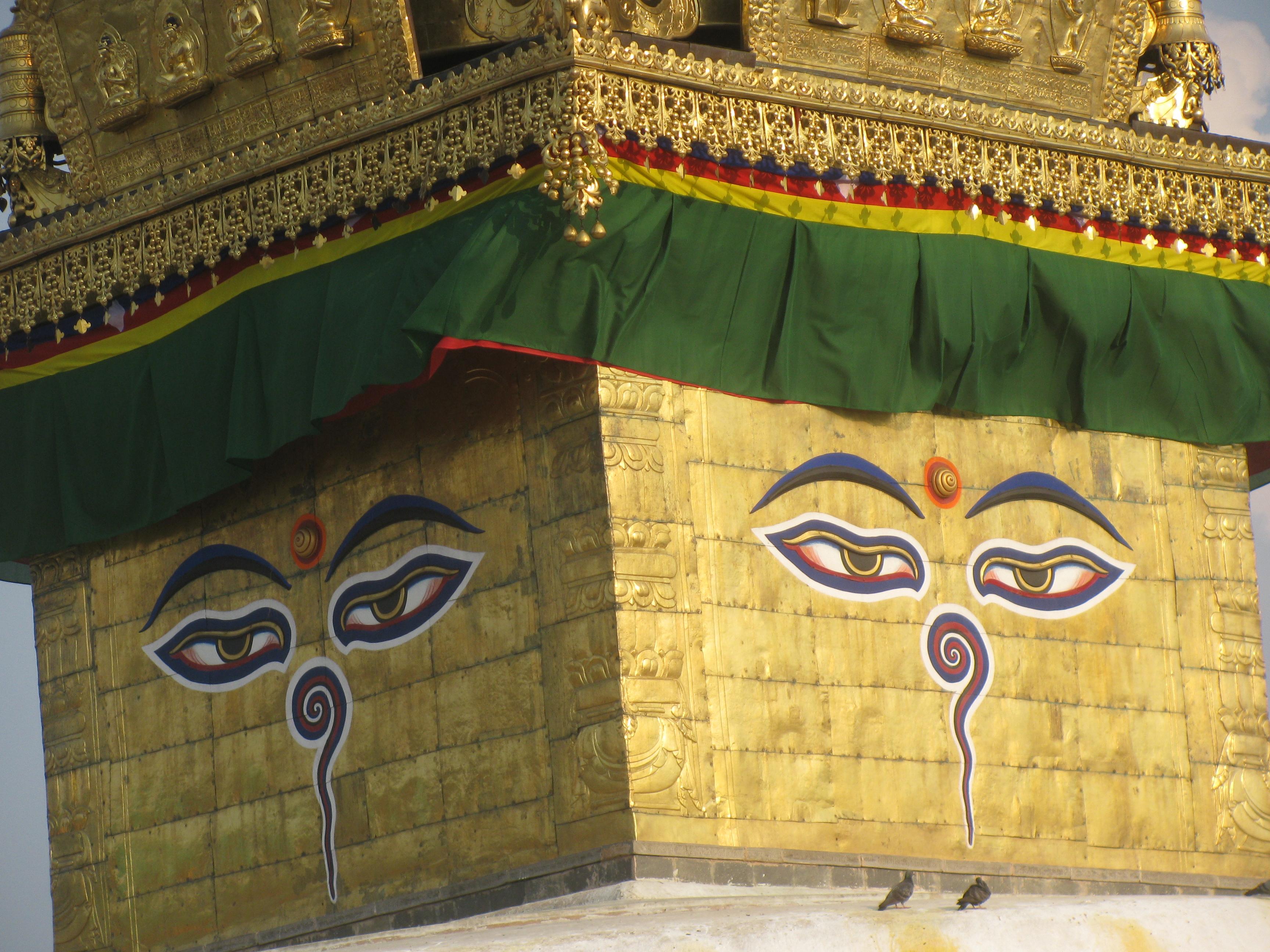 Buddha Eye on the Svayambhunath Stupa Top.