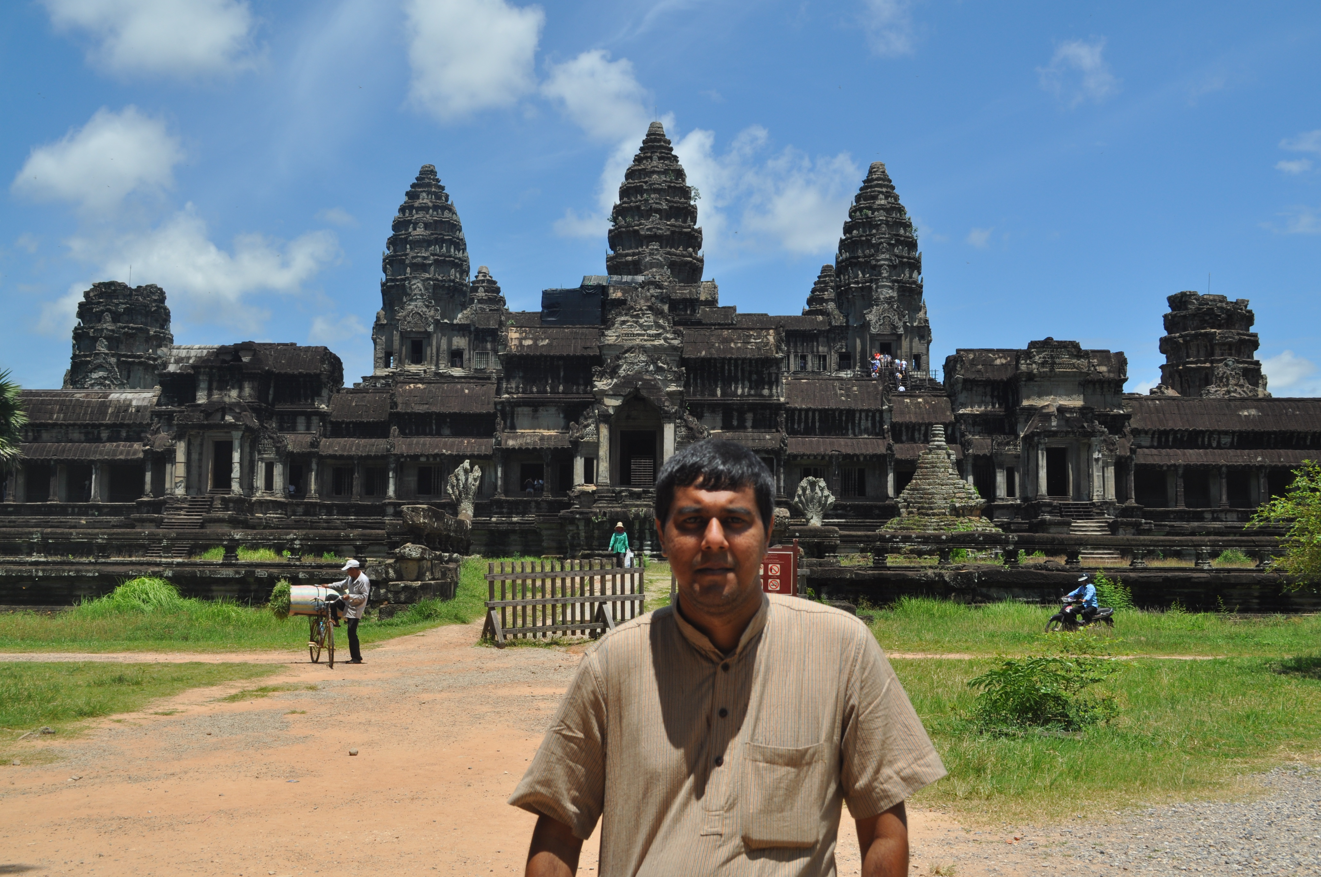 The sheer size and grandeur of the Angkor Wat is breathtaking. Just be there to see it.