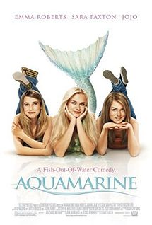 "Aquamarine The movie was shot mostly at the great Barier Reef. It is a 2006 Australian-American teen fantasy comedy film starring Sara Paxton, Emma Roberts, and Joanna ""JoJo"" Levesque. The movie, released in NA on March 2006, was made in the United States and Australia The film, loosely based on a children's book on the same name by Alice Hoffman, and directed by American director Elizabeth Allen was filmed in Queensland, Australia.   http://www.imdb.com/title/tt0429591/?ref_=nv_sr_1"