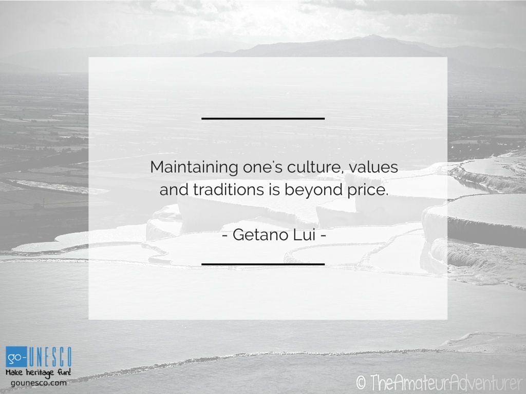 Maintaining one's culture, values and copy