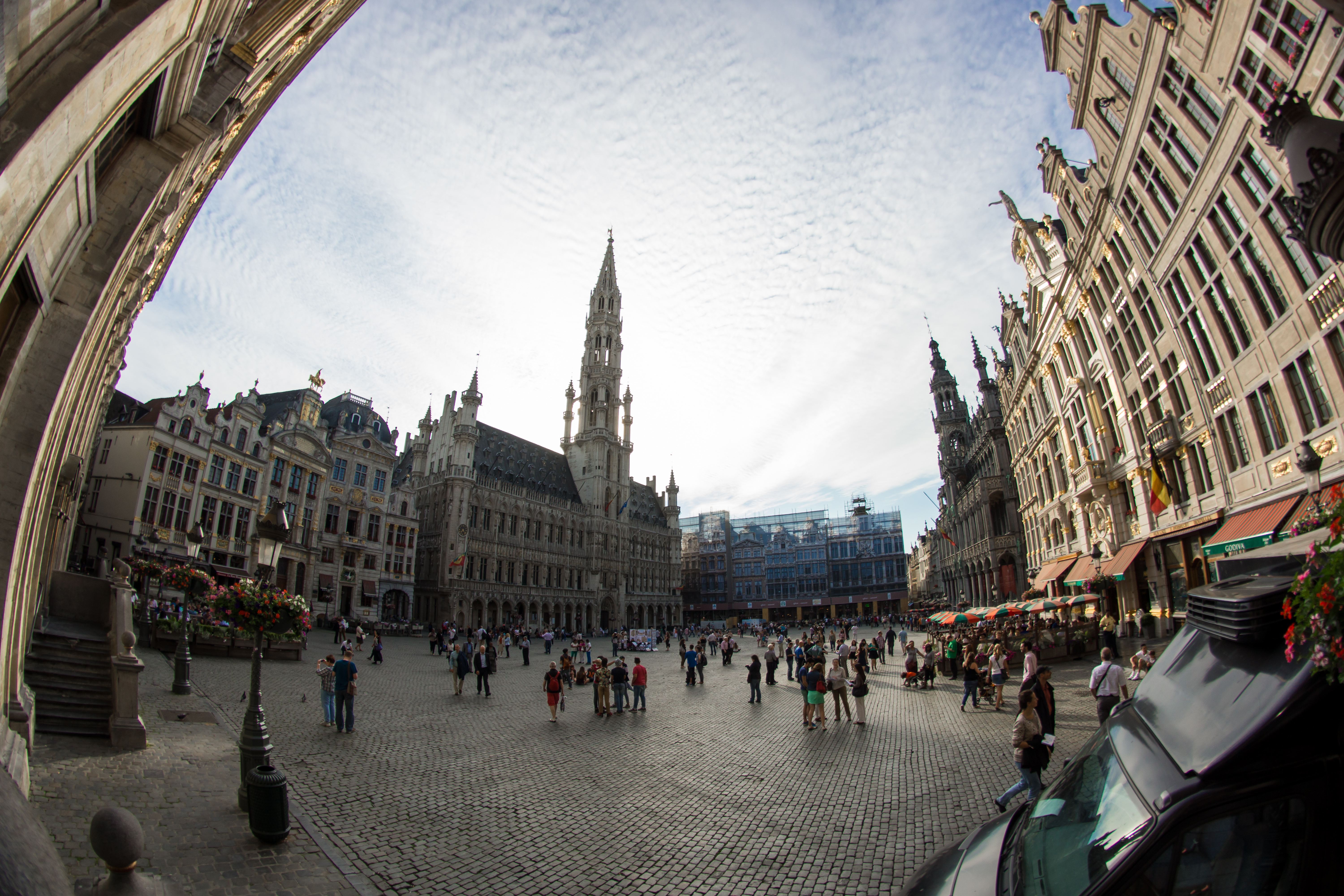 The Center of Brussels was crowded and tourists were everywhere. I would warn travelers about some of the side restaurants very close to the center of town were rip offs as they tried to get you to eat. That doesn't mean all of them were bad, just be prepared to spend a little more money than what you originally planned for. You must have the Delirium beer from the Delirium cafe. The beer is amazing but it hits you quick so be careful.