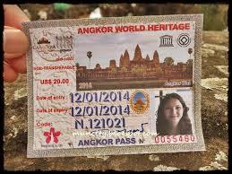Ticket for Angkor Vat-Cambodia