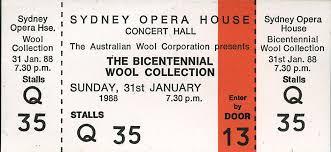 Ticket for Sydney Opera House-Australia