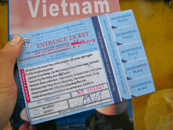 Admit Card  for  Hoi An Ancient Town