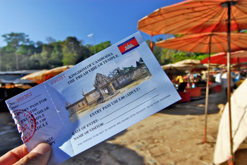 Admit Card for The Kingdom of Combodia, The Preah Vihear Temple