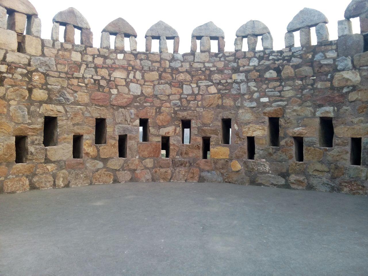 Bastions at Tughlaqabad Fort