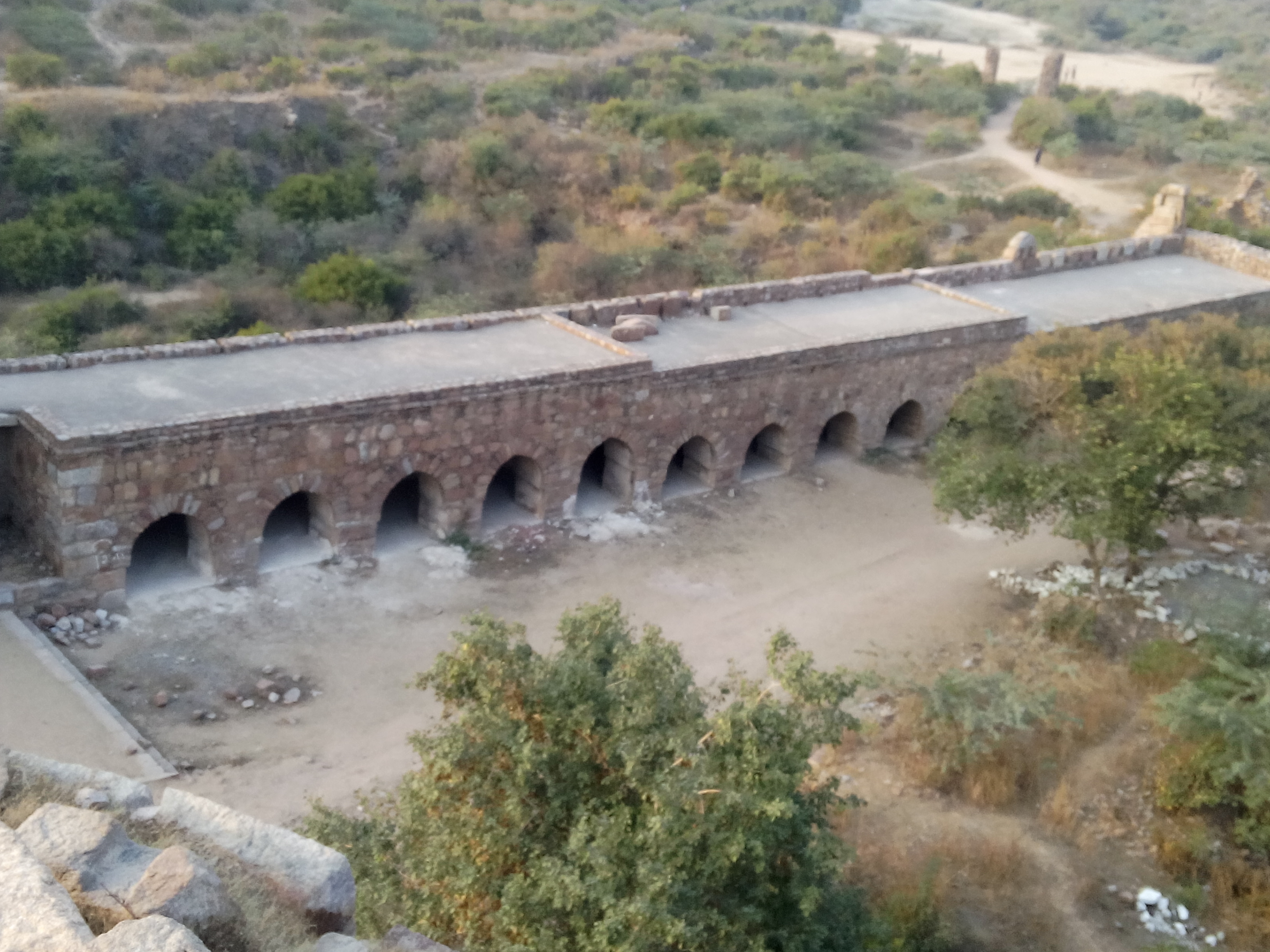 Cells made inside Tughlaqabad Fort