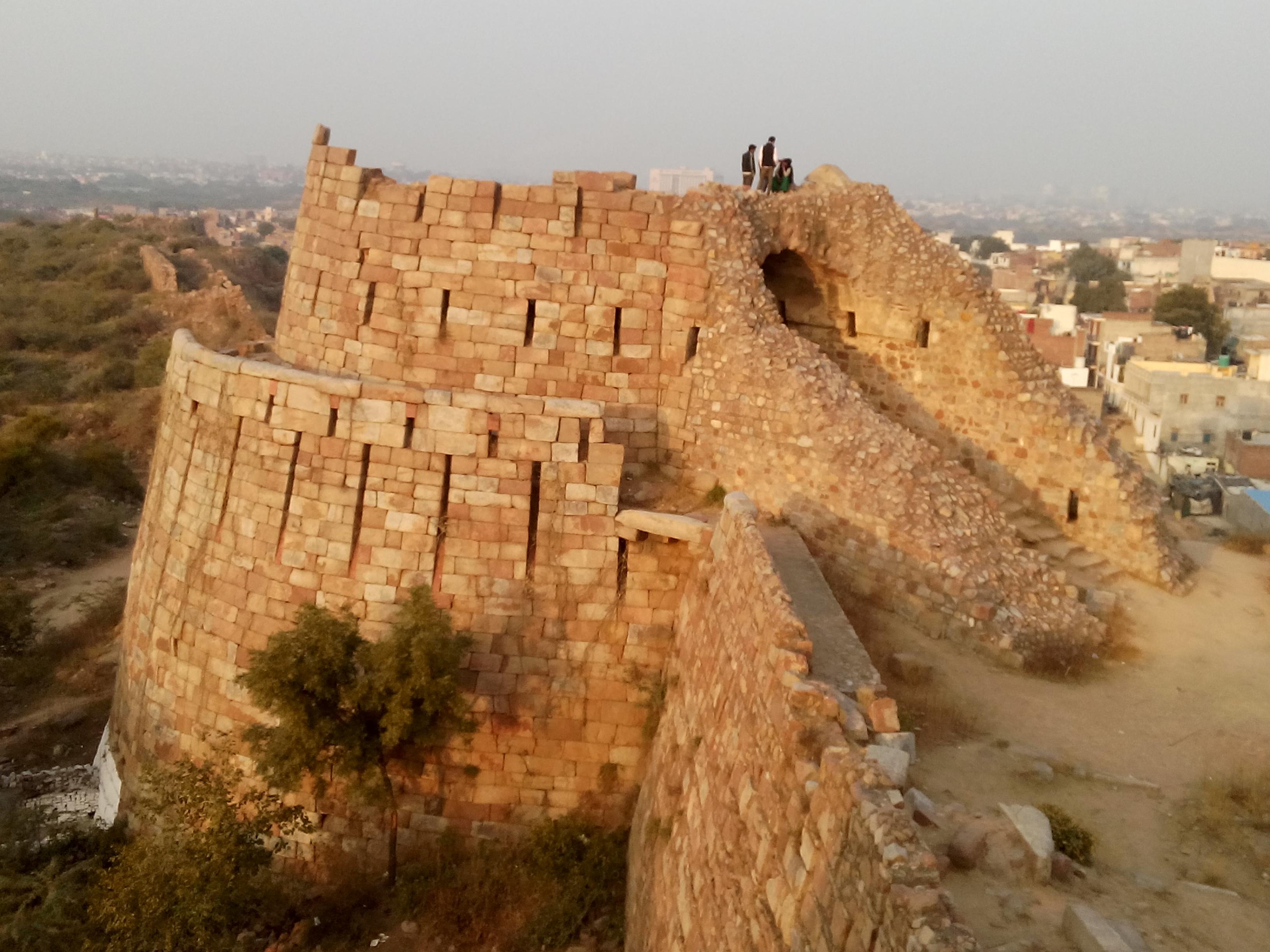 Bastions inTughlaqabad Fort
