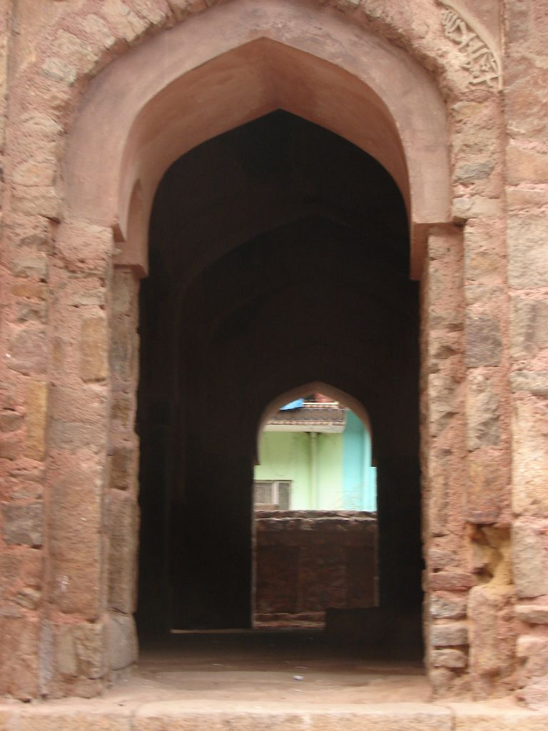 Arched opening to the tomb