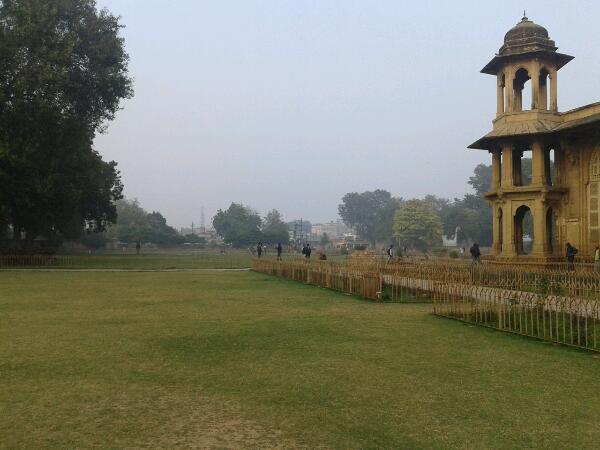The garden where festival  takes place.