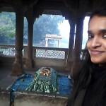 Selfie with Tansen's tomb.