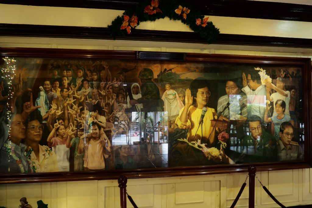 A Mural about the Inauguration of Cory Aquino