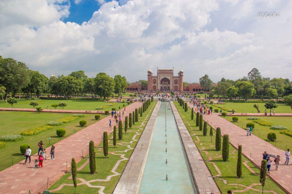 A View from Taj Mahal