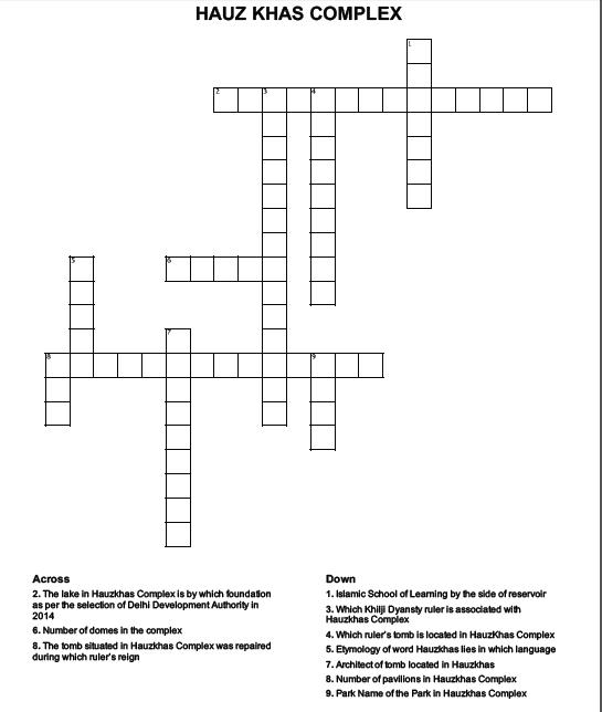 hauzkhas crossword