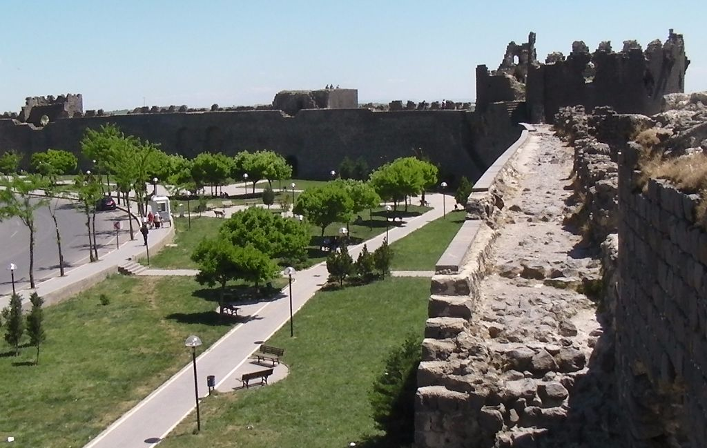 Old city walls of Diyarbakır, Turkey