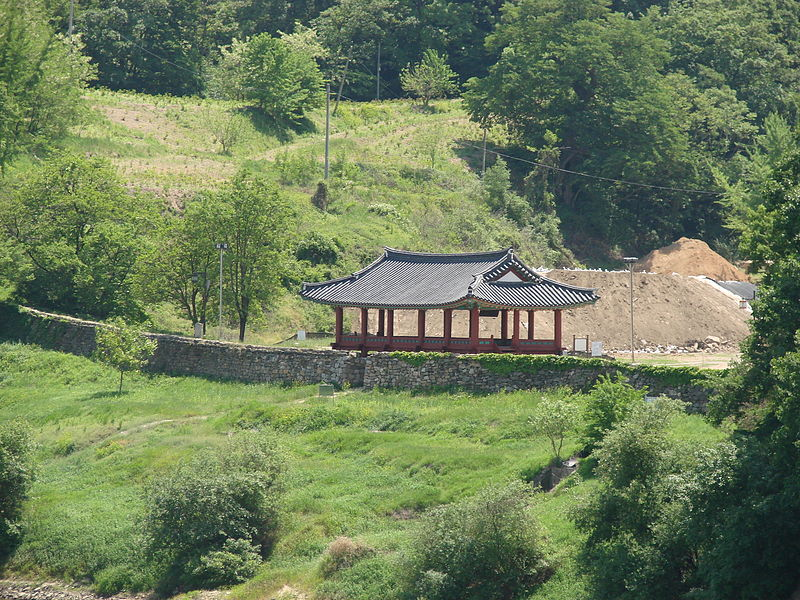 Pavilion at Gongsanseong in Gongju, South Korea
