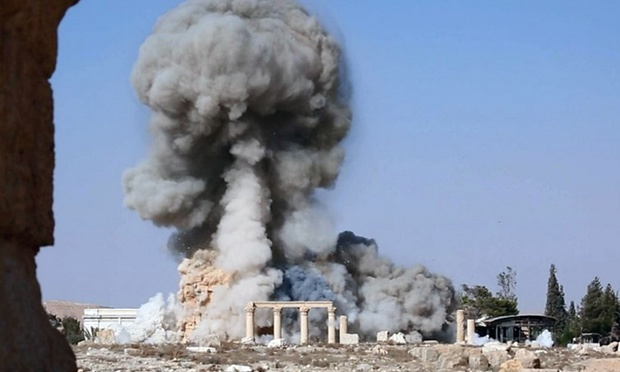 Isis blows up Temple of Baal Shamin in Palmyra