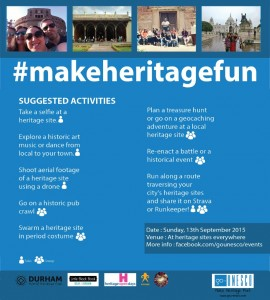 MakeHeritageFun Suggested Activites