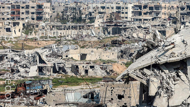 A dismal picture of destruction in Syria. Picture courtesy: https://www.flickr.com/photos/syriafreedom