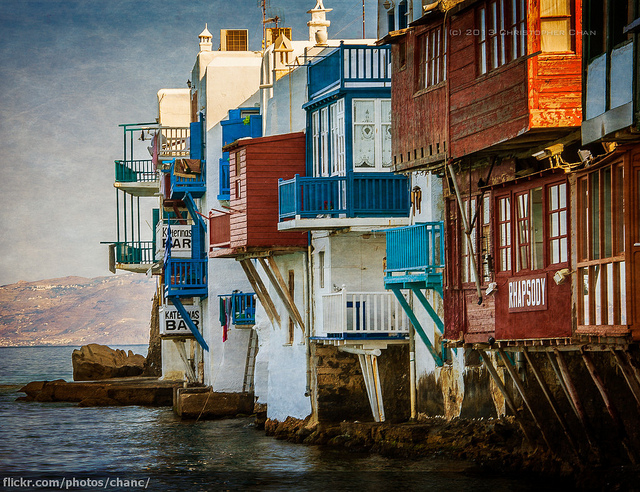 the different hues of the Cyclades Islands Picture Courtesy: Christopher Chan from Flickr