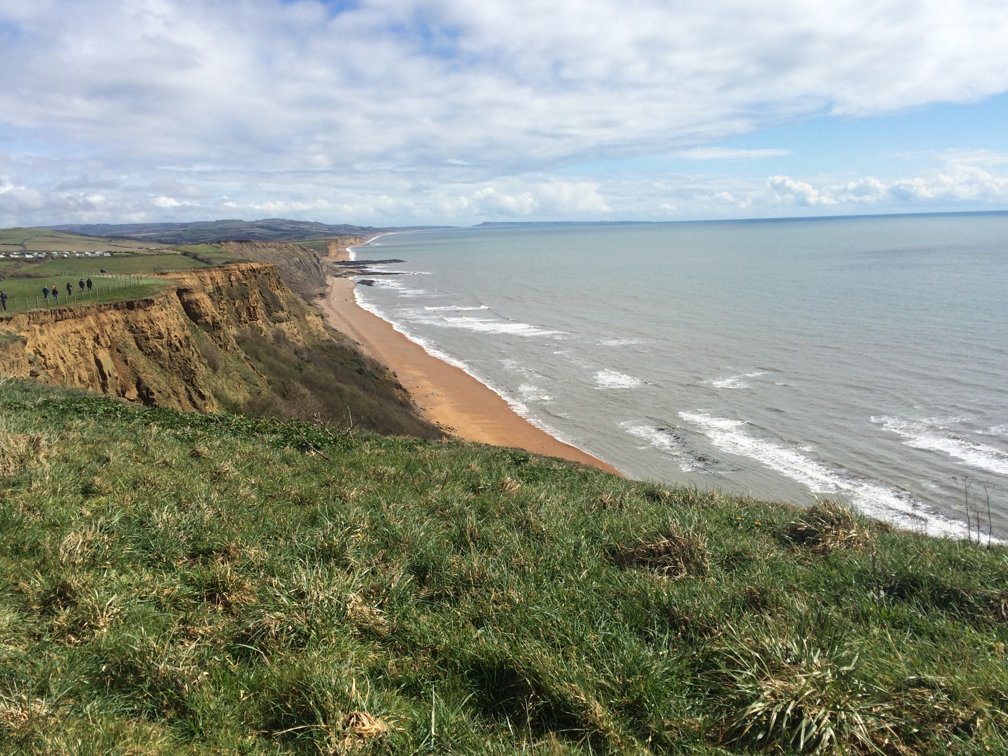 Looking east along the Jurassic Coast towards West Bay