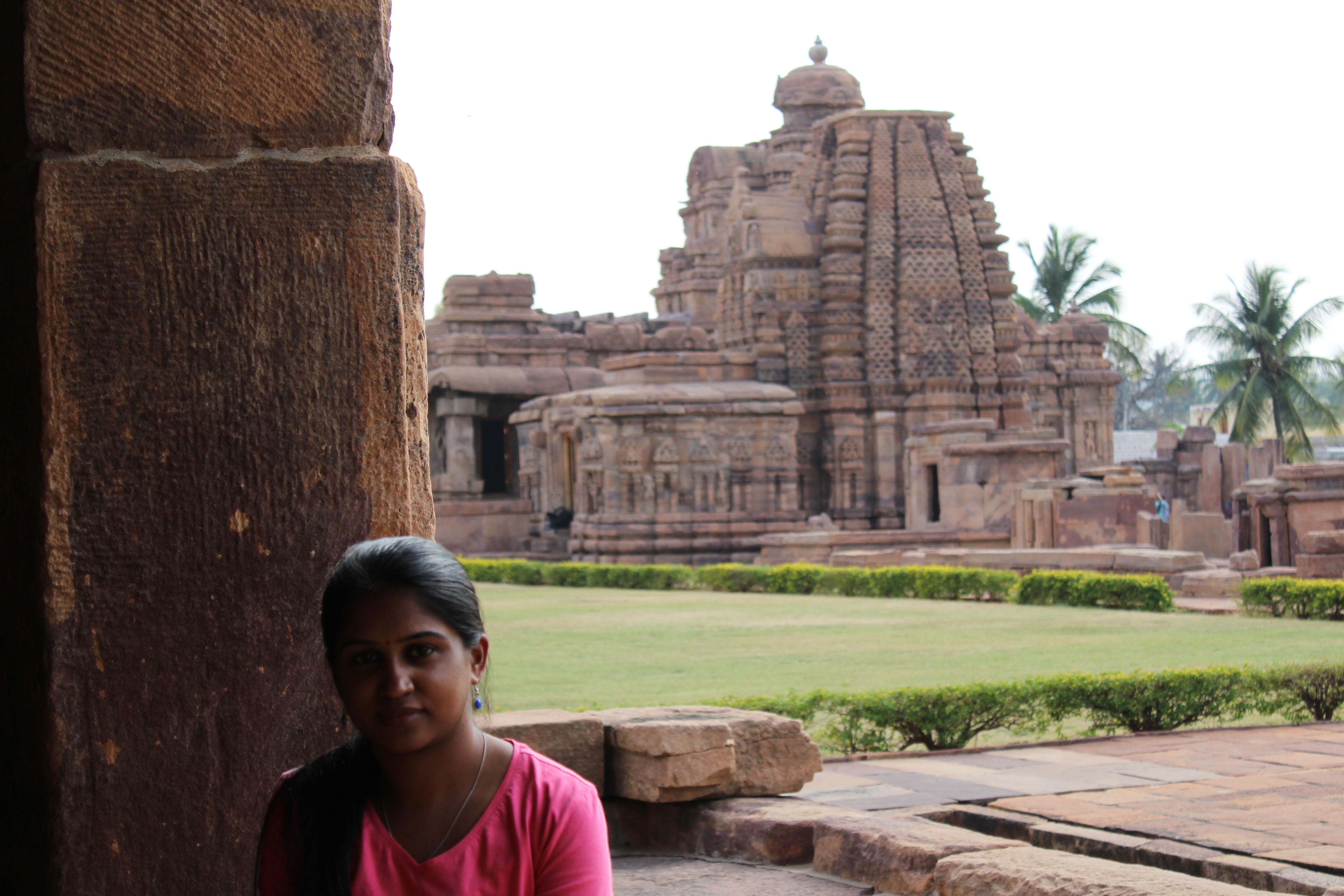 Pattadakal-Mallikarjuna temple and Virupaksha temple at Background