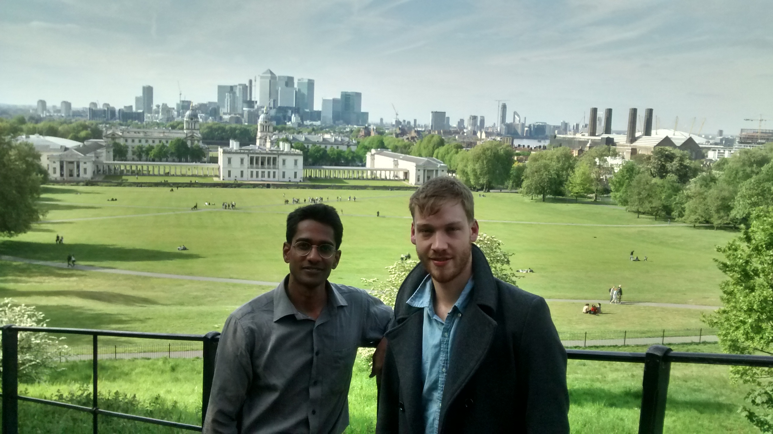 With London Skyline in the background