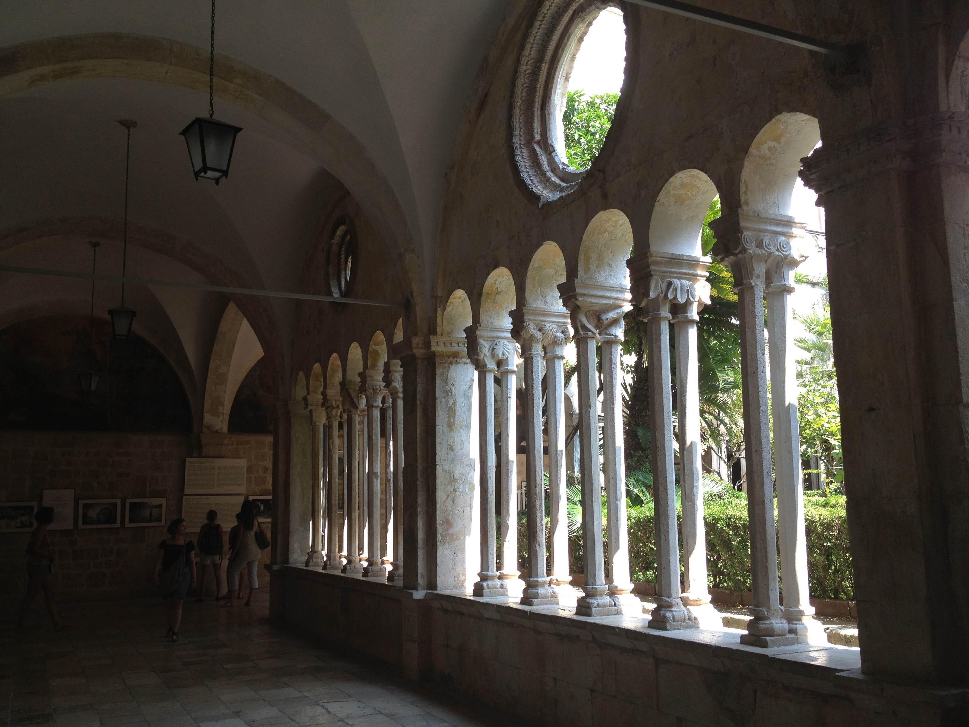 courtyard garden behind the colonnades