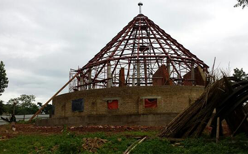 The restoration efforts of the Buganda world heritage site. Picture Courtesy; David K. Mpanga)