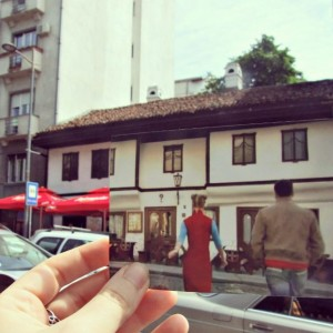 Scene from movie Šejtanov ratnik, in front of the oldest kafana in Belgrade