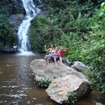 Water fall of Kpalime in the south of Togo