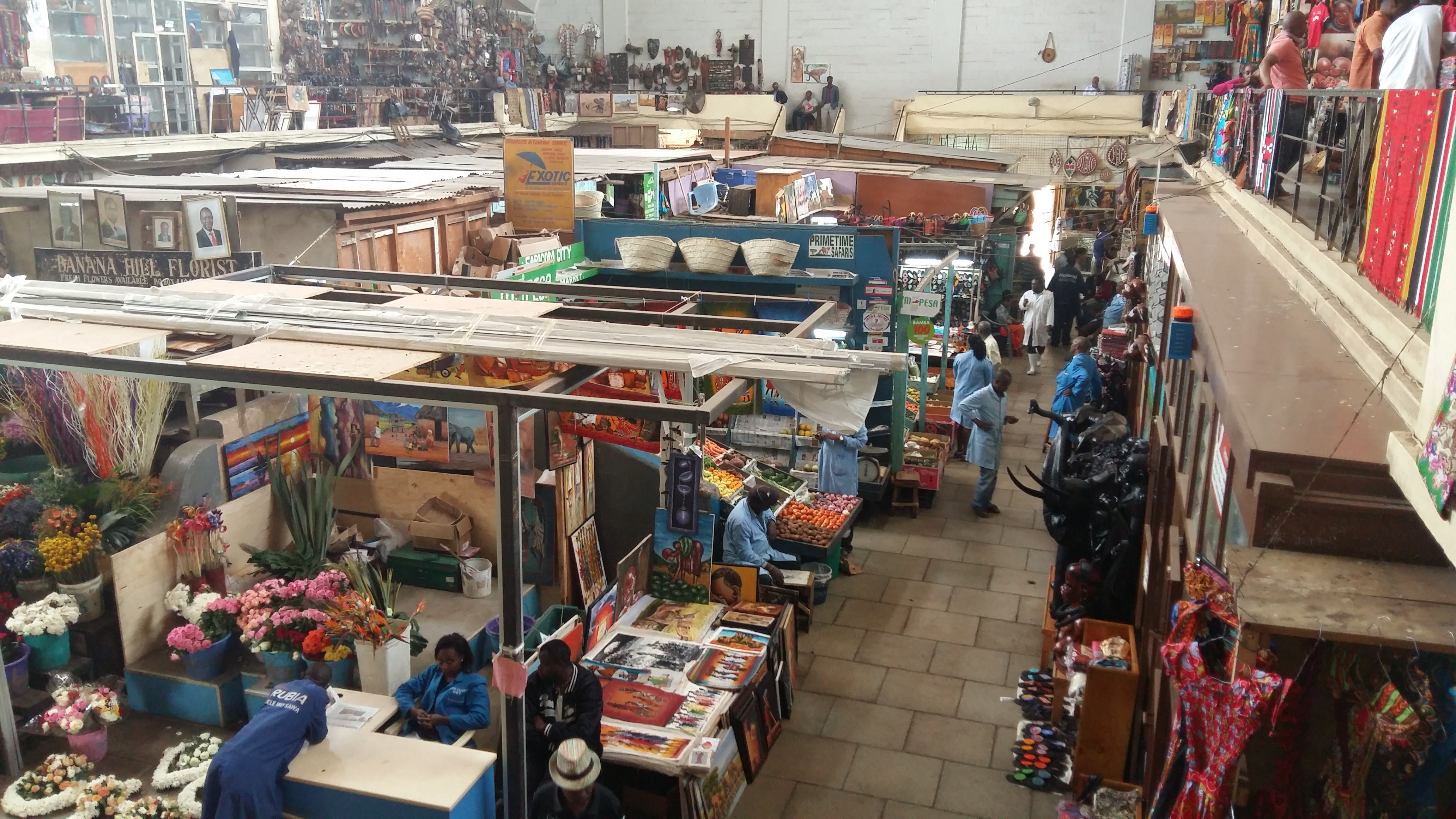More vendors display their wares on the ground floor of the market